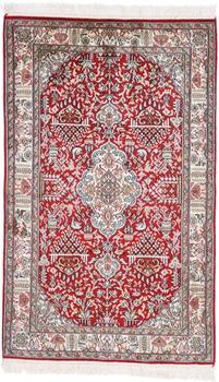 4x2 red silk kashmir persian rug