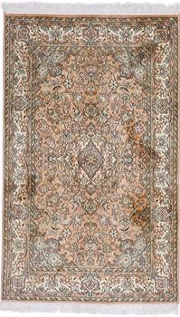 4x2 light brown silk kashmir persian carpet