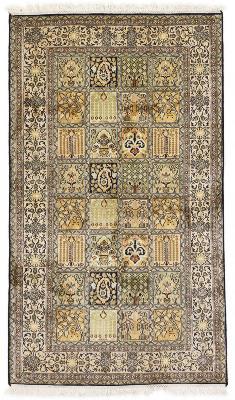 5x3 tile pattern silk kashmir persian rug