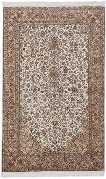 beige brown silk handmade carpet