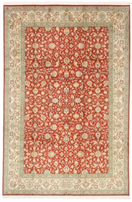 9x6 350KPSI silk Kashmir Persian rug, 18/18 kashmir carpet
