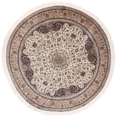 8x8 round silk kashmir persian rug