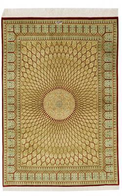 5x3 gonbad qum silk persian carpet