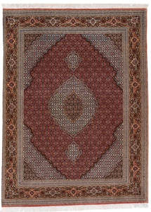 6x4 mahi tabriz persian rug with silk