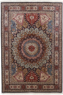 8x5 gonbad kashmir persian rug
