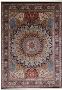 11x8 gonbad silk kashmir persian rug