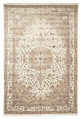 11x7 wool persian rug with silk highlights