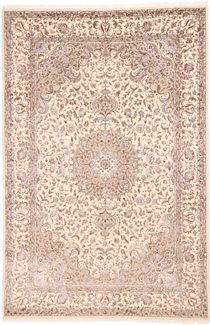 9x6 wool silk beige carpet
