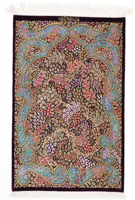 3x2 800kpsi genuine silk qum rug