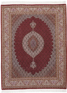 6x5 mahi tabriz persian rug with silk