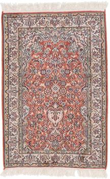 3x2 handmade silk kashmir persian carpet