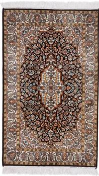 4x2 fine silk kashmir persian rug