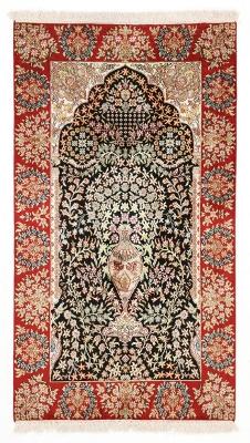 5x3 handmade silk kashmir persian rug