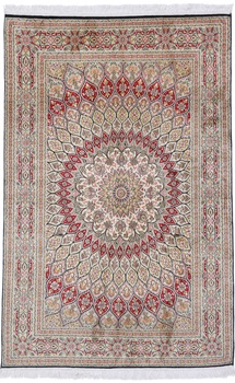 Gonbad Dome Design Kashmir Persian Rug