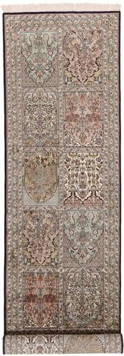 9x2 Runner 350KPSI silk Kashmir Persian rug, 18/18 kashmir carpet