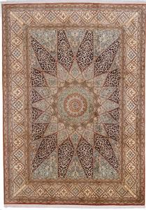 11x7 gonbad kashmir persian rug
