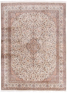 11x8 handmade silk kashmir persian rug