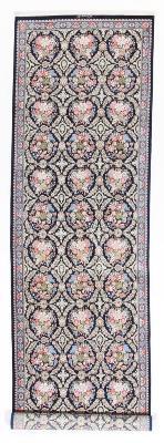 9x2 pure silk Qum Persian rug runners 700 KPSI