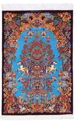 3x2 900kpsi artpiece silk qom carpet