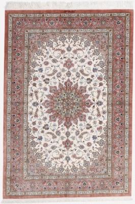 6x4 silk 500kpsi qum persian rug