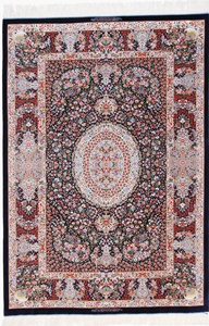 6x4 silk 800kpsi qum persian carpet