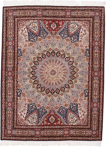 6x5 gonbad tabriz rug with silk
