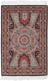 5ft by 3ft gonbad tabriz persian carpet