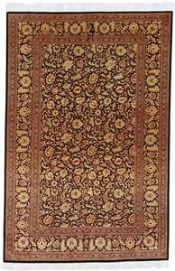 6x4 versace silk qum persian rug runner