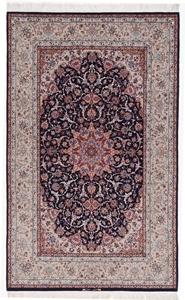 7x5 signed silk isfahan rug