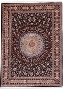 11x8 gonbad tabriz persian carpet