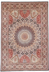 11x8 Gonbad Tabriz Persian rug. Dome Design Gombad Tabriz Persian carpet.