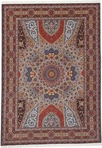 11x8 400kpsi silk gonbad tabriz rug