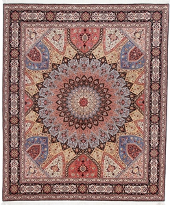 10x8 gonbad tabriz persian carpet