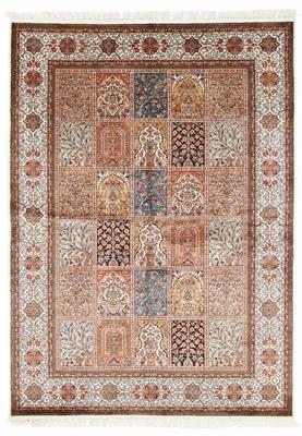 6x5 silk kashmir persian rug