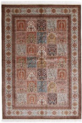 8x5 350KPSI silk Kashmir Persian rug, 18/18 kashmir carpet