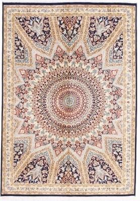 gonbad design silk persian rug
