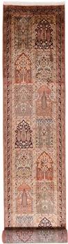 21x2 Runner 350KPSI silk Kashmir Persian rug, 18/18 kashmir carpet