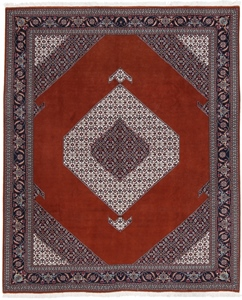 8x6 Tabriz Brown Persian Rug with silk