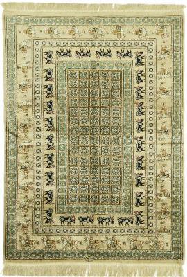 4x3 silk pazyryk qum persian rug