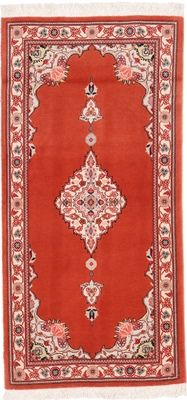4x2 twin tabriz persian rug with silk