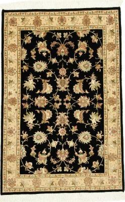 4x2 tabriz persian rug with silk