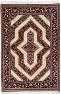 7x5 Qom Persian rugs. Handmade high quality Qum carpet