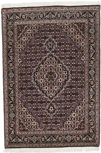 4x3 tabriz mahi persian rug with silk