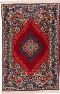 5x3 red silk tabriz persian rug