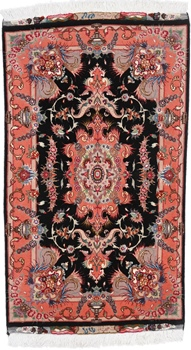 3x2 tabriz persian rug with silk