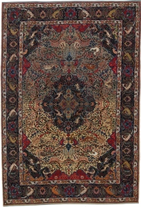 antique 10x7 tabriz persian rug
