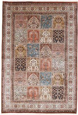 6x4 silk kashmir persian rug