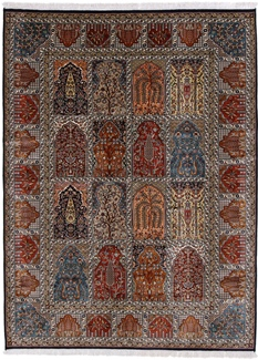 6x5 350KPSI silk Kashmir Persian rug, 18/18 kashmir carpet