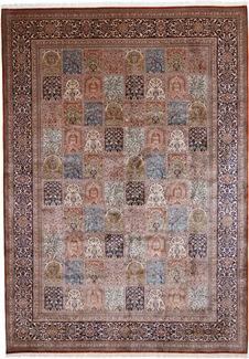 11x8 silk kashmir persian rug