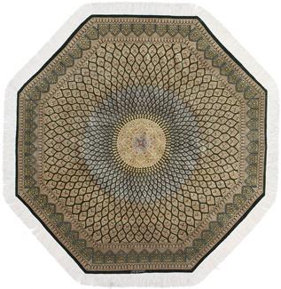 5x5 octagon gonbad qom persian rug